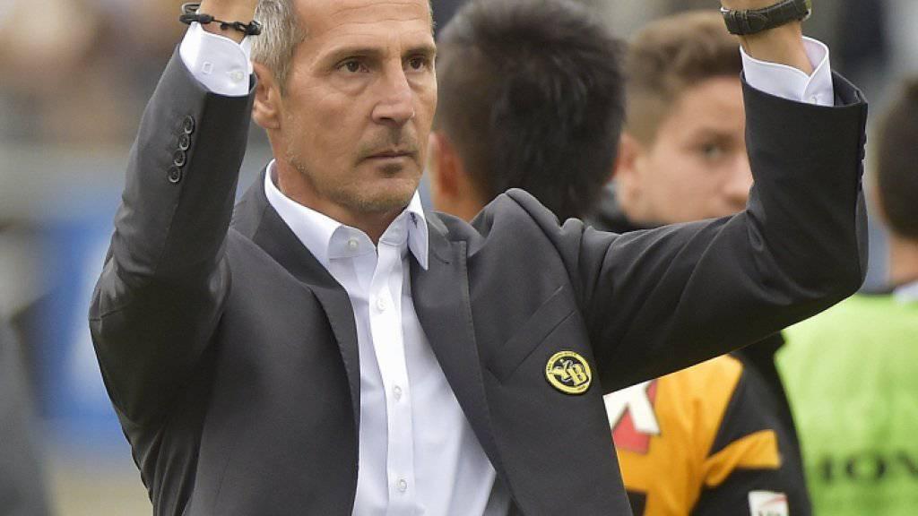 Adi Hütter hofft auf eine Fortsetzung seiner bislang makellosen Bilanz als YB-Coach