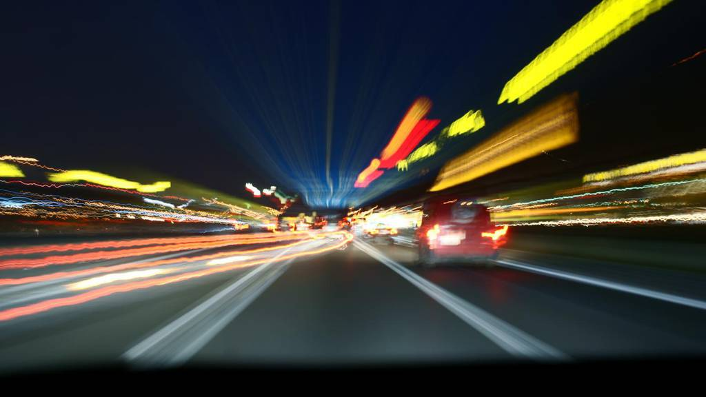 Autobahn A2 bei Hergiswil - zurzeit nur einspurig