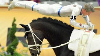 Looser sorgt für an den Weltreiterspielen für erstes Schweizer Gold. Foto: Keystone