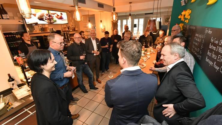 Am Montagabend hat im Restaurant Stadtbad in Olten der erste Gewerbeapéro stattgefunden.