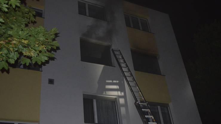 In dieser Wohnung brannte es.