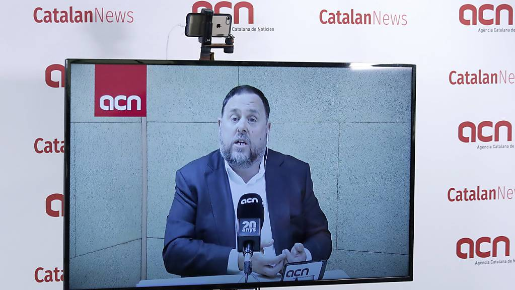 Oriol Junqueras, der frühere stellvertretende katalanische Regionalpräsident, wurde als Hauptangeklagter zu 13 Jahren Haft verurteilt. (Archivbild)