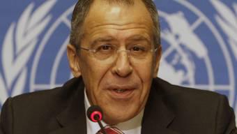 Sergej Lawrow bespricht in Genf Krise (Archivbild)
