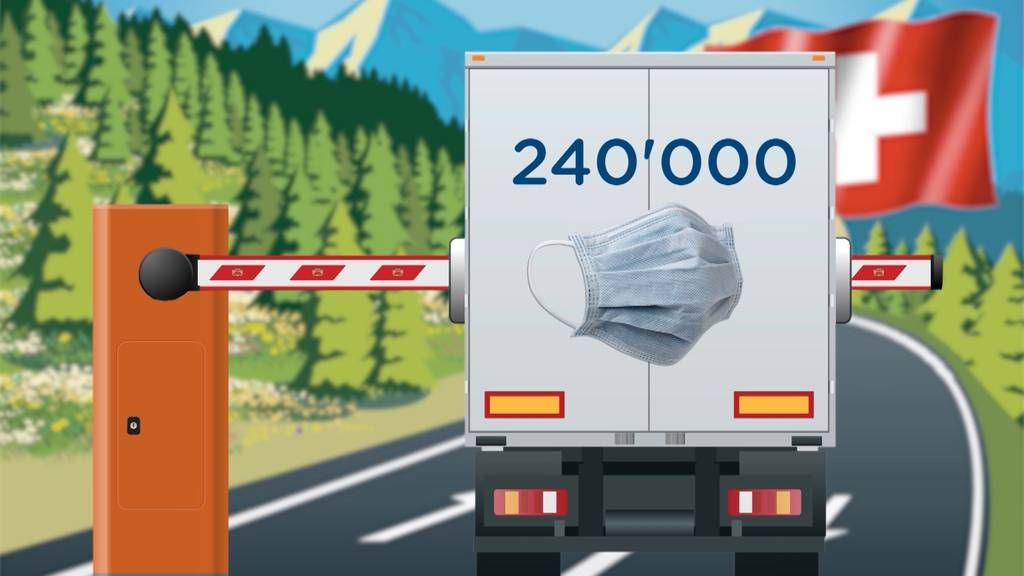 Deutschland stoppt Lieferung von 240'000 Schutzmasken in die Schweiz