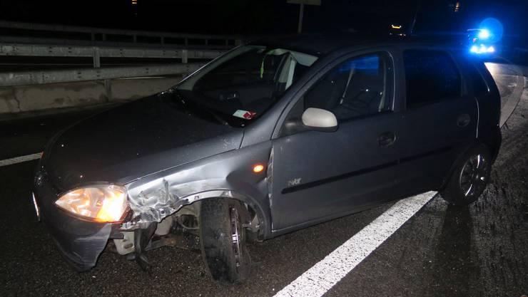 Auf der Autobahn A22 kam es am frühen Freitagmorgen zu zwei Unfällen wegen Eisglätte.