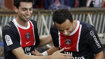 Javier Pastore (links) und Marcos Ceara freuen sich