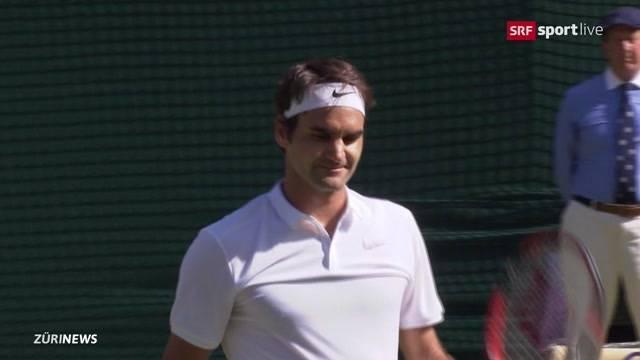 Federer spielt sich ins Halbfinale