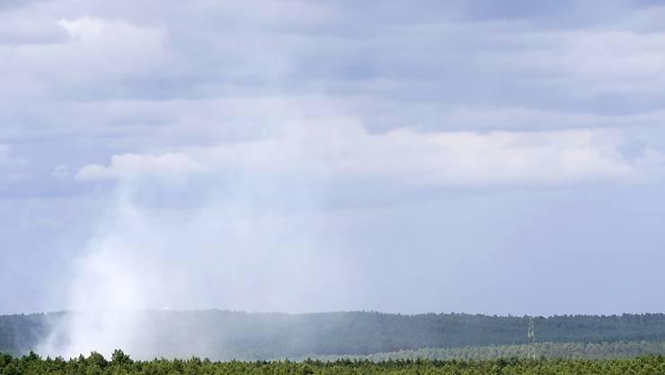Ein weiteres Feuer ist östlich der Autobahn A9 nahe Beelitz-Heilstätten ausgebrochen.