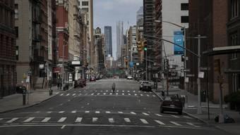 """""""Rush hour"""" in New York City: Die Strassen in Manhattan sind in diesen Tagen praktisch menschenleer."""