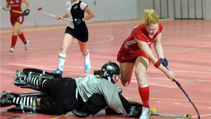 Rotweiss Wettingen (hier Karin Bugmann während des NLA-Finals) zeigte eine gute Leistung im Europacup.