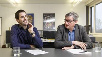 Philipp Heri (links) und Stefan Hug-Portmann schätzen den gegenseitigen Gedankenaustausch auch ausserhalb der regionalen Gremien.