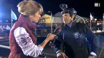 Freddy Nock beim Alkohol-Test in der SF-Sendung «Puls»