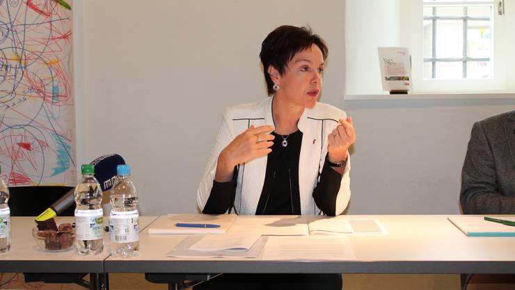 «Der Takt ist sehr schnell und die Arbeitstage intensiv»: Monica Gschwind zieht Bilanz.