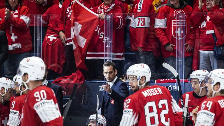 Patrick Fischer dirigiert seine Mannschaft. (Archivbild)