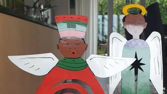 Diese Weihnachtsengel stammen aus Südafrika. Bild: jam