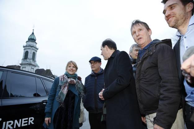 Seraina Rohrer und die Protagonisten des Eröffnungsfilms