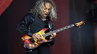Wut als Inspiration: Metallica-Gitarrist Kirk Hammett ist keineswegs zartbesaitet. (Archivbild)