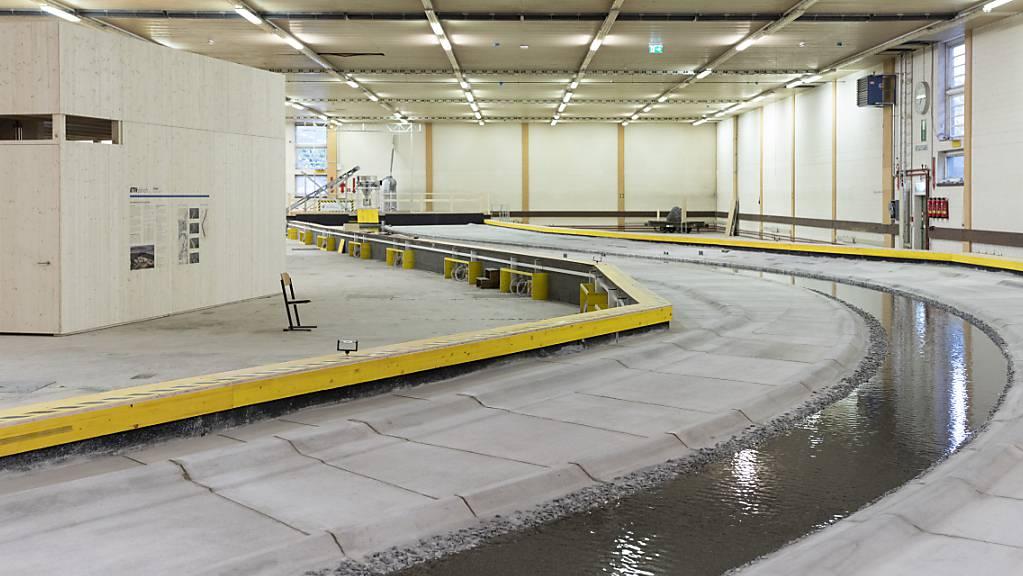 Bisher ist das internationale Hochwasserschutz-Projekt Rhesi vor allem als Modell sichtbar, das in Dornbirn A besichtigt werden kann. (Archivbild)
