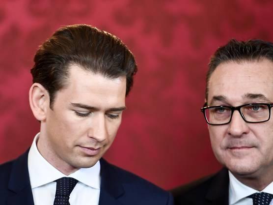 Sebeastian Kurz un der inzwischen zurückgetretene österreichische Vizekanzler und FPÖ-Chef Heinz-Christian Strache.