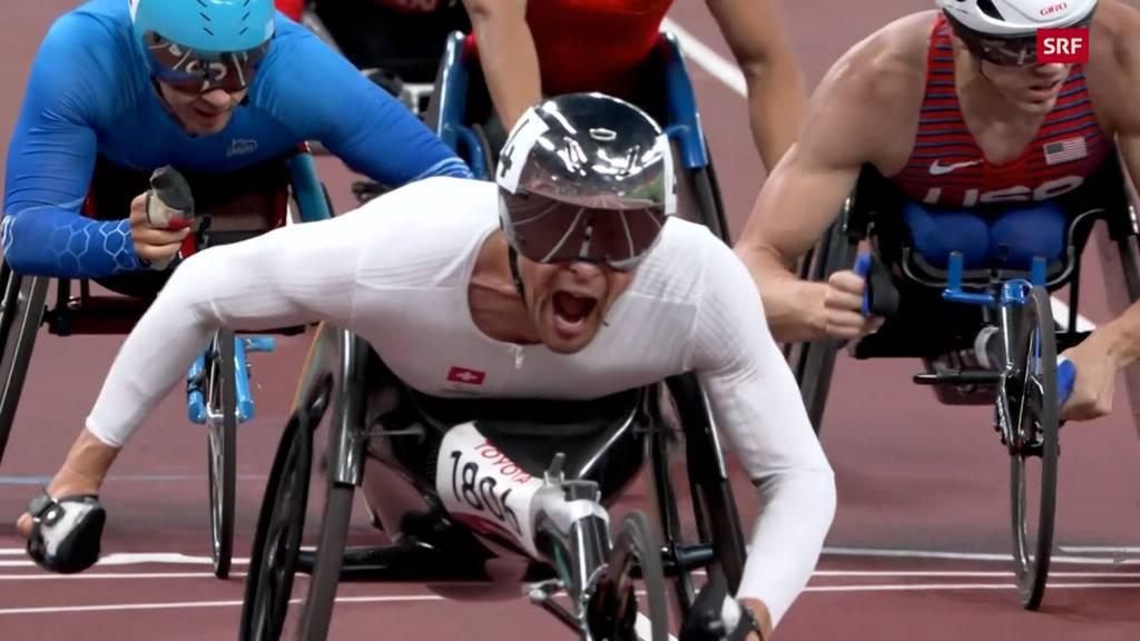 Rollstuhlathlet Marcel Hug holt sich Gold in Tokio