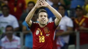 Jordi Alba brachte die Spanier in Helsinki in Führung