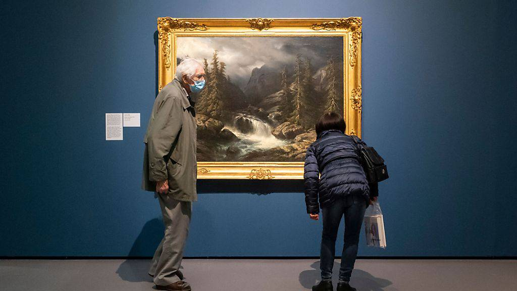 «Die Aare an der Handeck» von Francois Diday ist in der Ausstellung «Im Herzen wild. Die Romantik in der Schweiz» im Kunsthaus in Zürich zu sehen. Es ist ein Beispiel dafür, dass Künstler der Romantik ihre Motive in der wilden und bedrohlichen Bergwelt der Schweiz suchten.