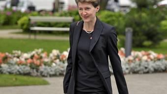 Bundesrätin Sommaruga auf dem Weg zum Treffen der EU-Innenminister im polnischen Sopot