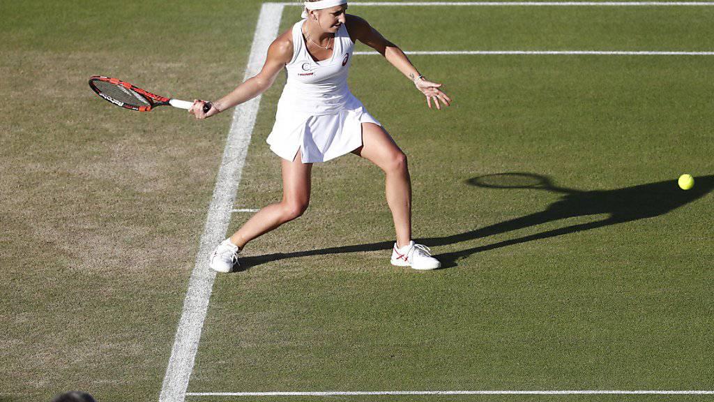 Weiterhin kein Wetterglück: Timea Bacsinszky steckt in Wimbledon immer noch in der 2. Runde fest