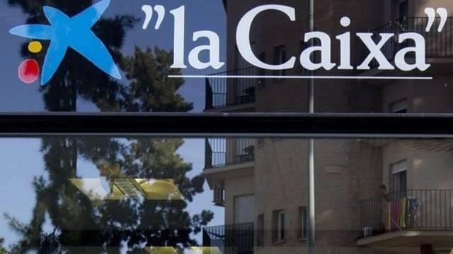 Logo der Caixabank.