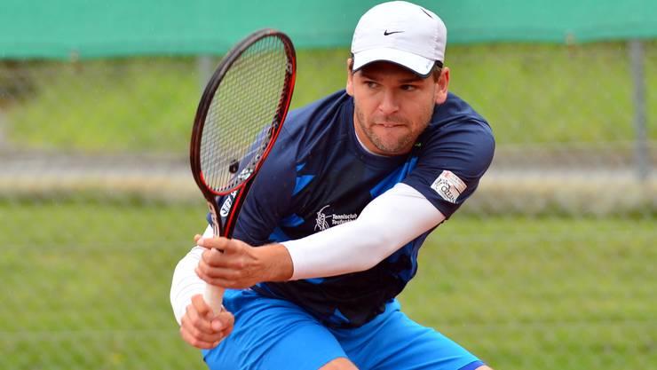 Frank Wintermantel holte den einzigen Teufenthaler Punkt im Einzel gegen Drizia Genf.