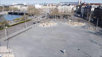 Menschenleeres Zürich: Drohnenbilder zeigen Wirkung des Shutdowns