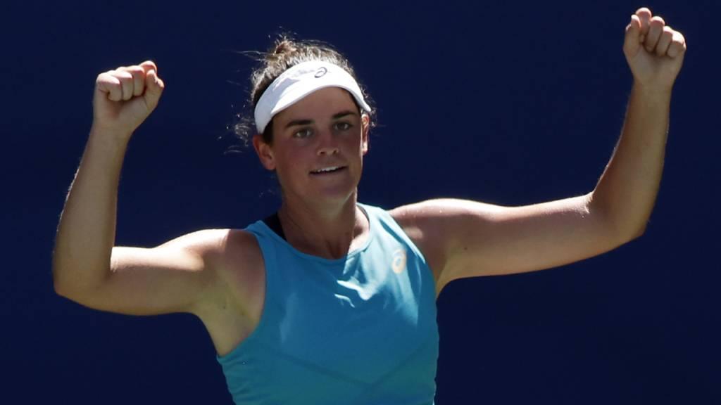 Jennifer Brady besiegte mit Angelique Kerber die US-Open-Siegerin von 2016 und zog als erste in die Viertelfinals ein