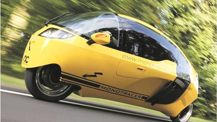 Der Monotracer ist das angeblich energieeffizienteste Fahrzeug der Welt. Thomas Dreier aus Luterbach hat sein Fahrverhalten untersucht. ZVG