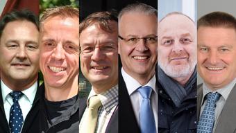 v.l.n.r.: Thomas Blum, Fulenbach; Andreas Heller, Hägendorf; Dieter Leu, Richenbach; Rainer Schmidlin, Kappel; Manfred Zimmerli, Bonigen; Hans Rudolf Krähenbühl, Gunzgen