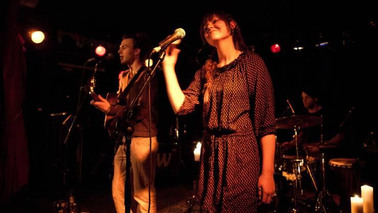 An der Plattentaufe von «Far From Going Home»: Dave Eleanor und Catja Lanfranchi.  Lukas Jegerlehner