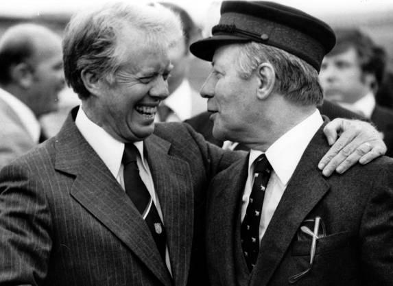 1974 beim Besuch von US-Präsident Jimmy Carter in Berlin