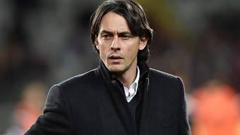Milans Trainer Filippo Inzaghi