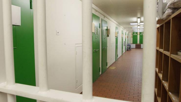 Hinter Gittern: Wohler Lehrer sitzt im Bezirksgefängnis Baden. (Raphael Hühnerfauth)