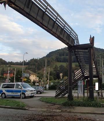 Die Beschädigte Brücke in Laufenburg