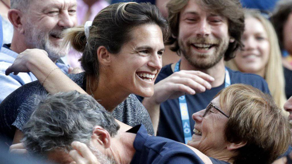 Freude über den Erfolg ihres neuen Schützlings: Amélie Mauresmo