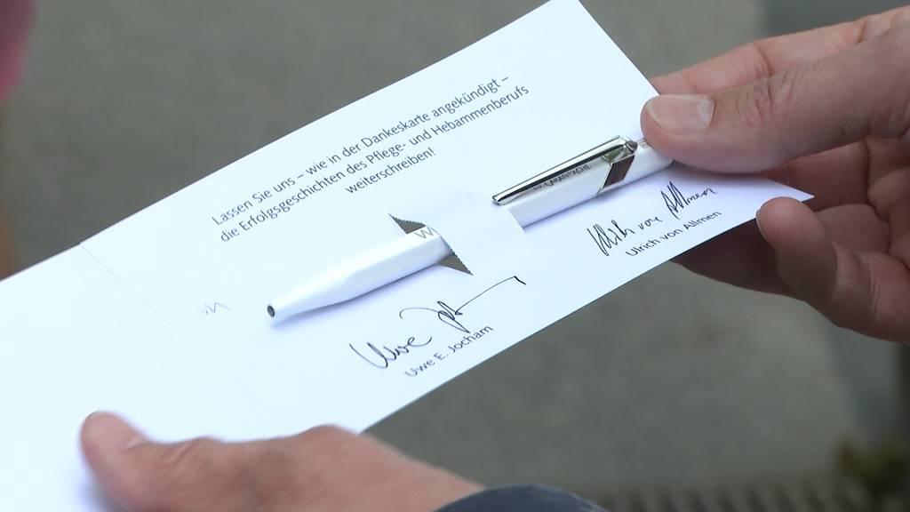 Kugelschreiber-Dankeschön erzürnt Pflegepersonal der Inselgruppe