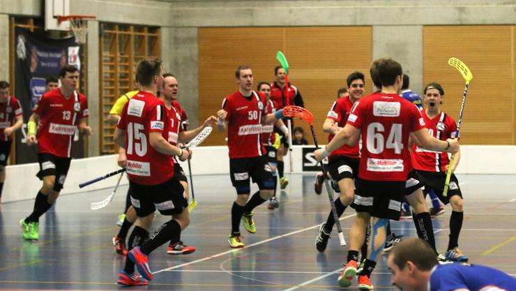 Die Basler Unihockeyaner konnten ein knappes und umkämpftes Spiel trotzdem noch für sich entscheiden.