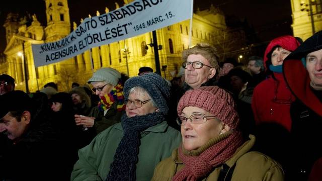 Proteste gegen umstrittenes Mediengesetz in Budapest