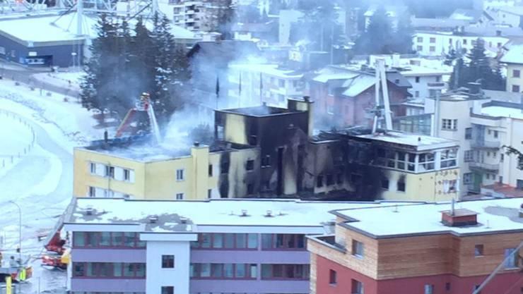 Das Feuer verursachte einen Totalschaden.