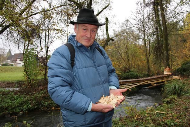 Besonders im Herbst machen sich die Biber an den Bäumen zu schaffen, sagt Bürgi.