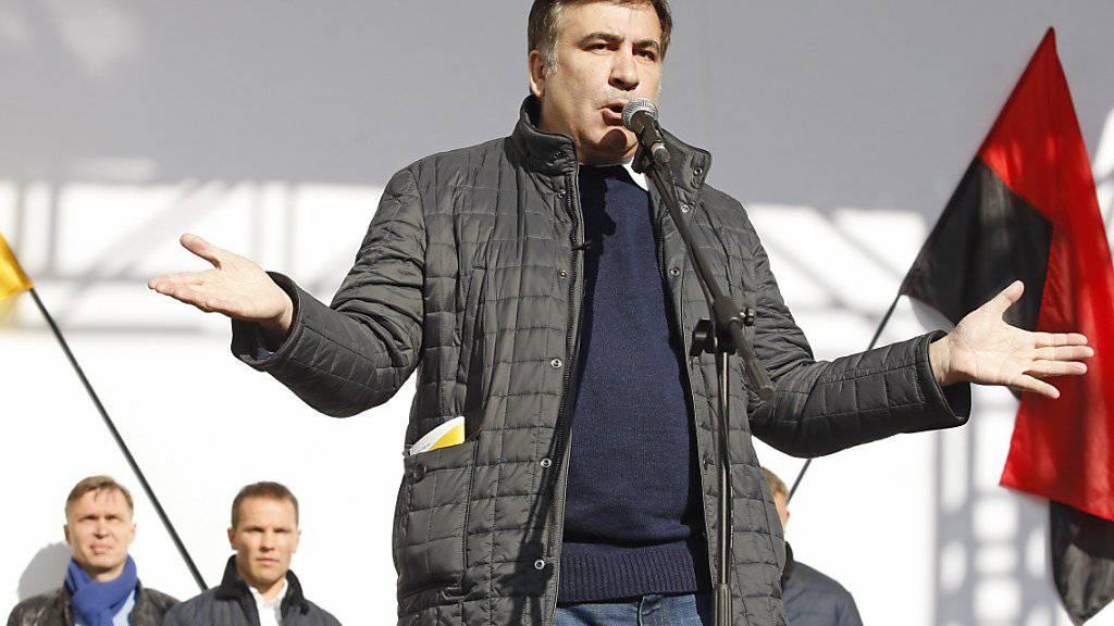 Georgiens Ex-Präsident Michail Saakaschwili droht nun die Auslieferung (Archiv)