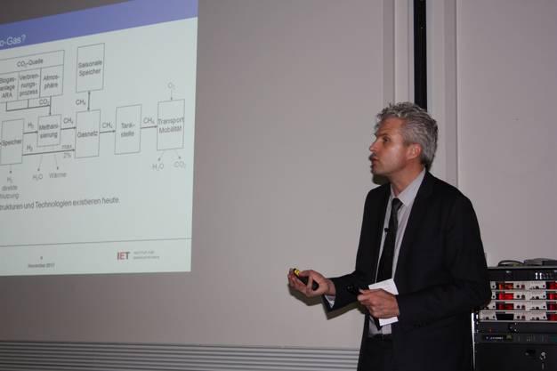 Friedl beschreibt die Rolle von Power-to-Gas in der nachhaltigen Energieversorgung.