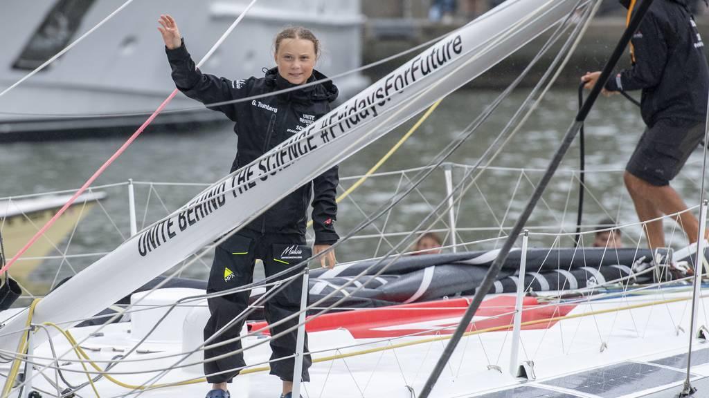 Greta Thunberg vor Freiheitsstatue eingetroffen