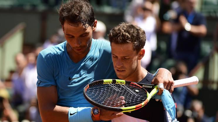 Nach der Regenpause lässt Rafael Nadal Diego Schwartzman keine Chance.