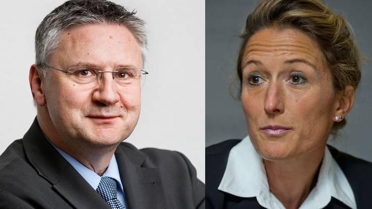 Andreas Glarner (l.) und Susanne Hochuli.